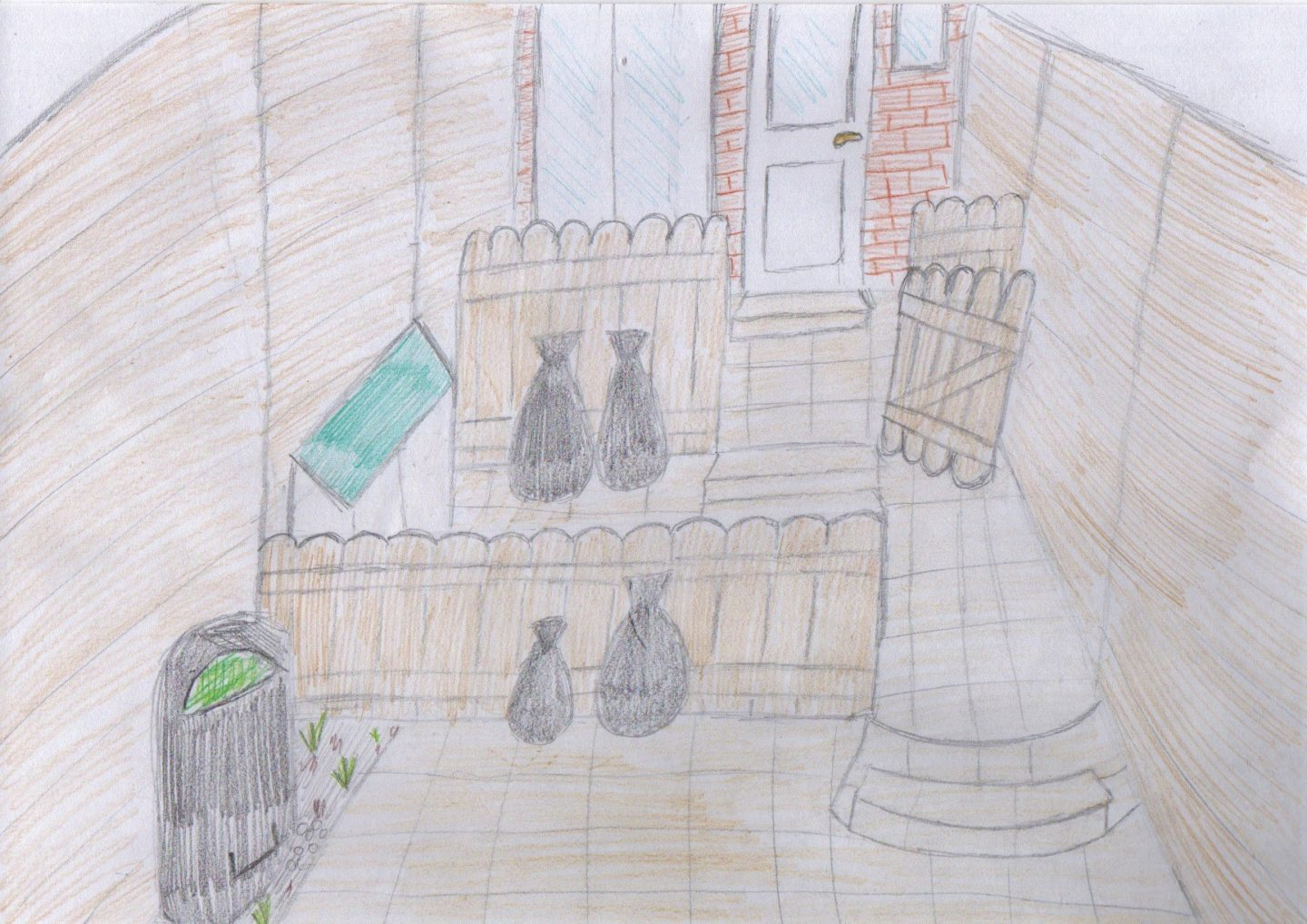 Sketch of back garden