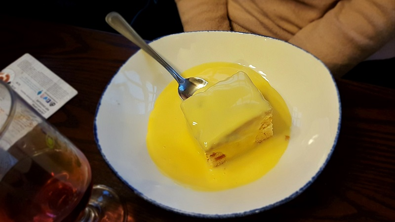 Home baked lemon sponge