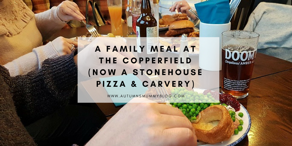 A family meal at The Copperfield (now a Stonehouse pizza & carvery)