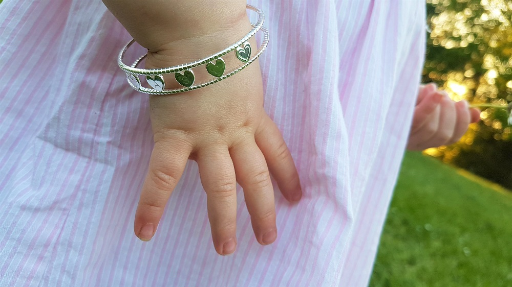 Personalised silver children's bracelet