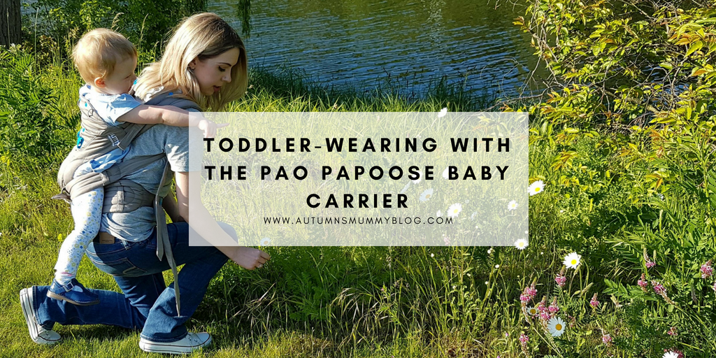 Toddler-wearing with the Pao Papoose baby carrier