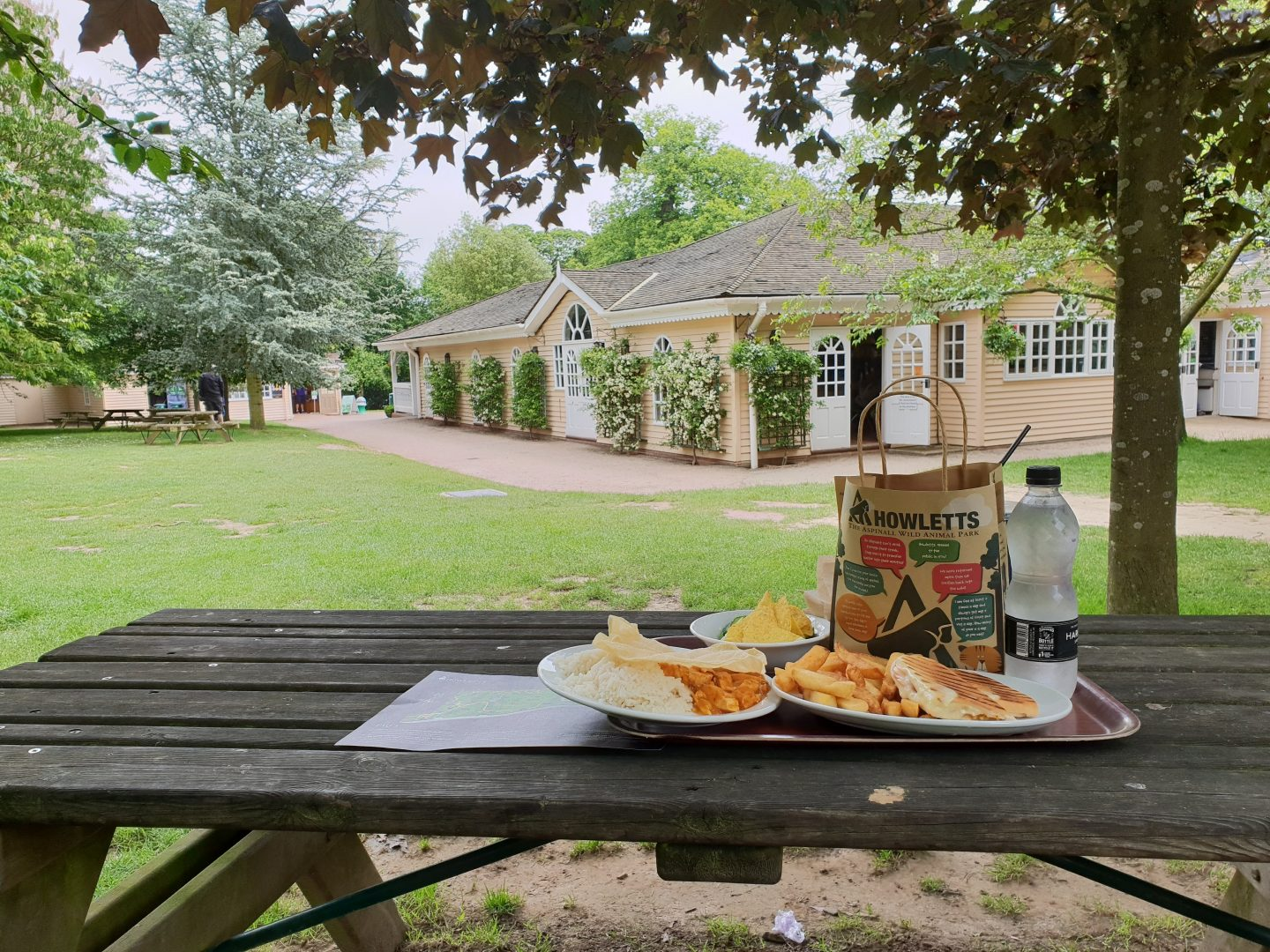 The Pavilion Restaurant at Howletts Wild Animal Park near Canterbury, Kent
