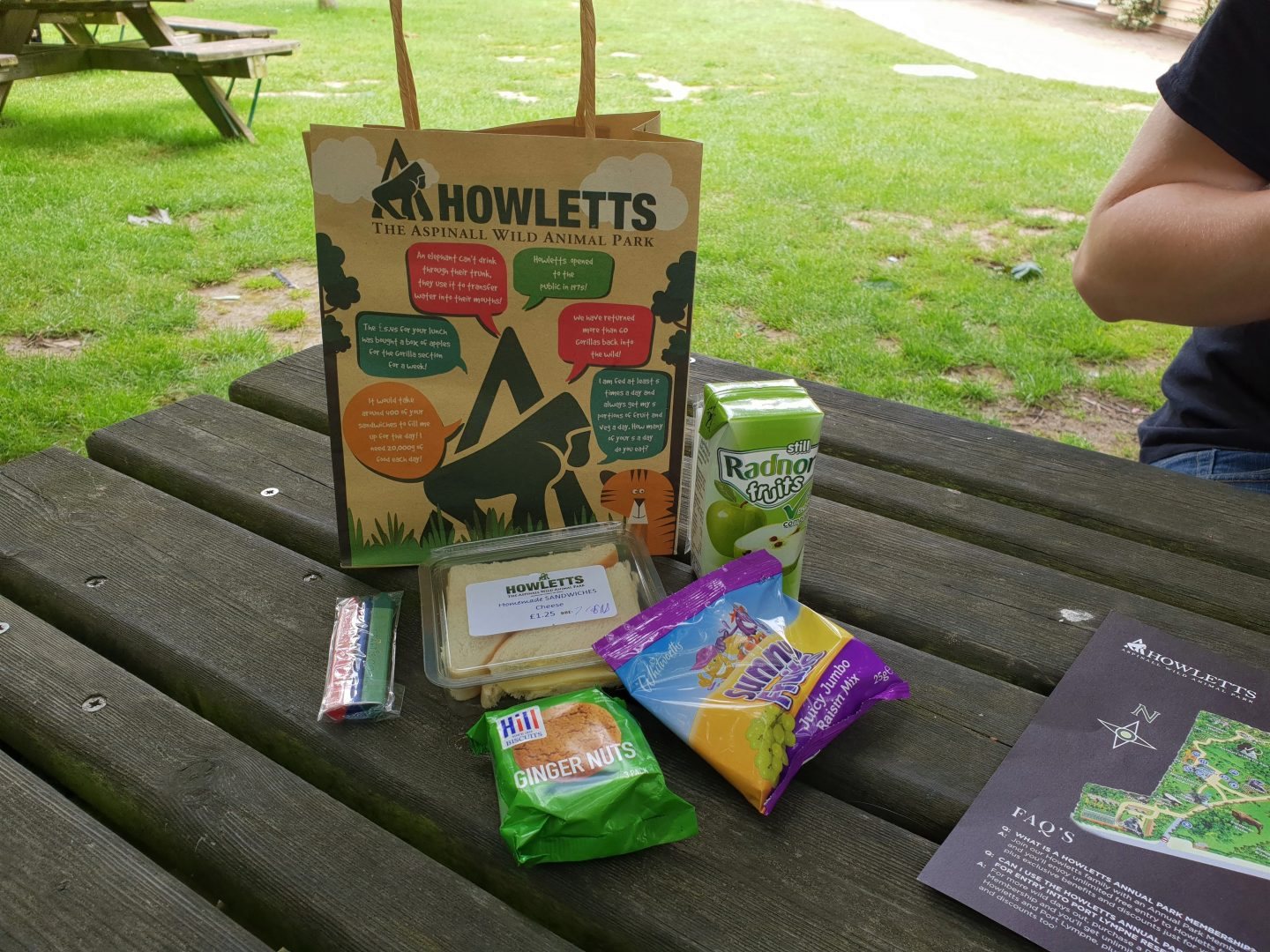 Kid's lunch bag at Howletts