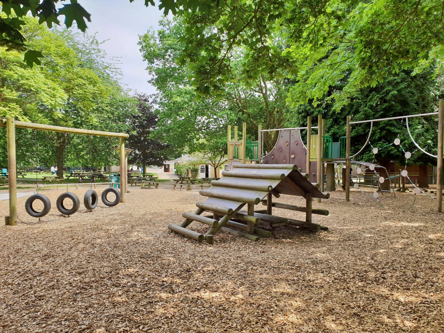 Playground at Howletts in Canterbury, Kent