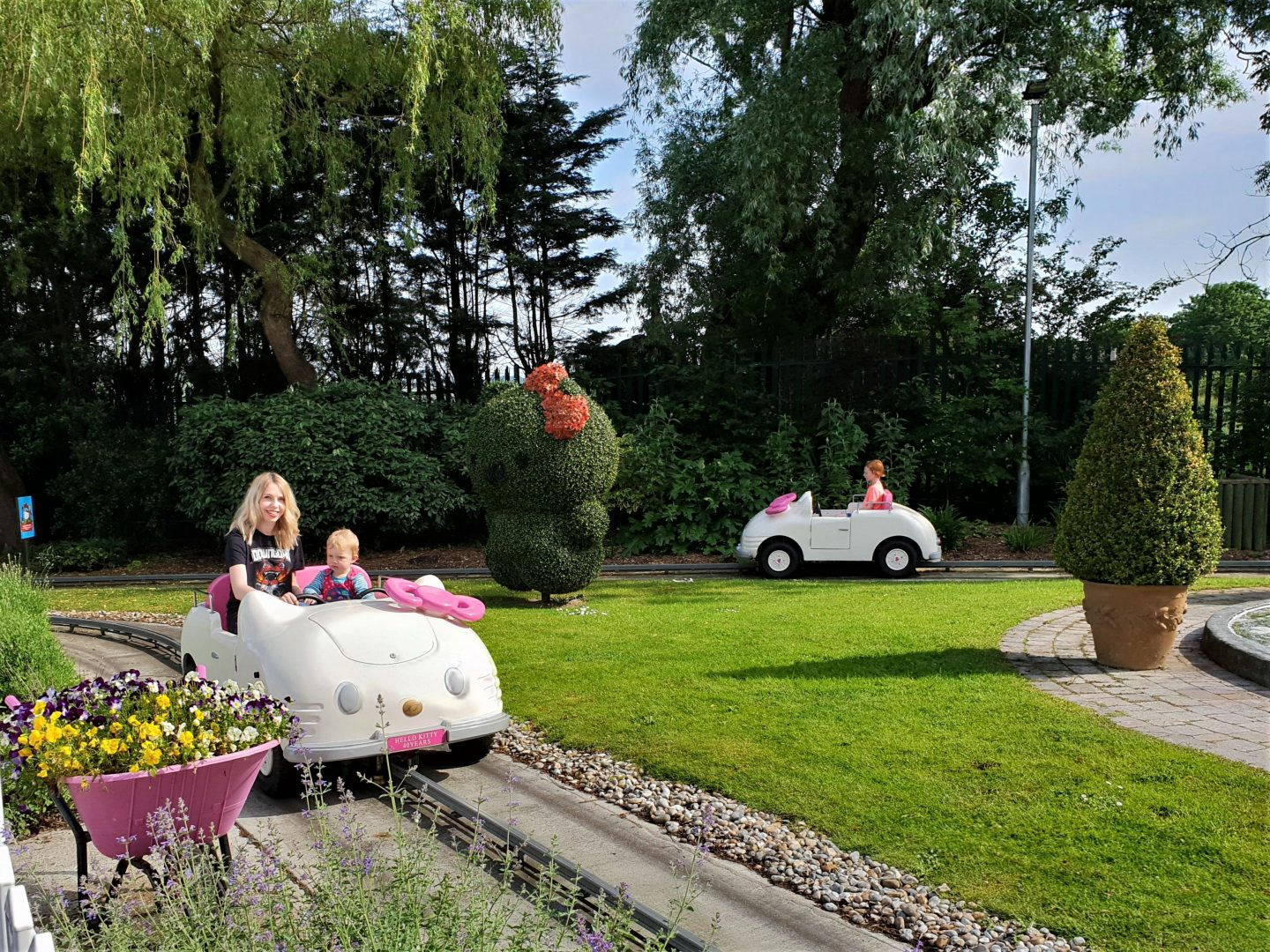 Hello Kitty secret garden car ride at Drusillas Park