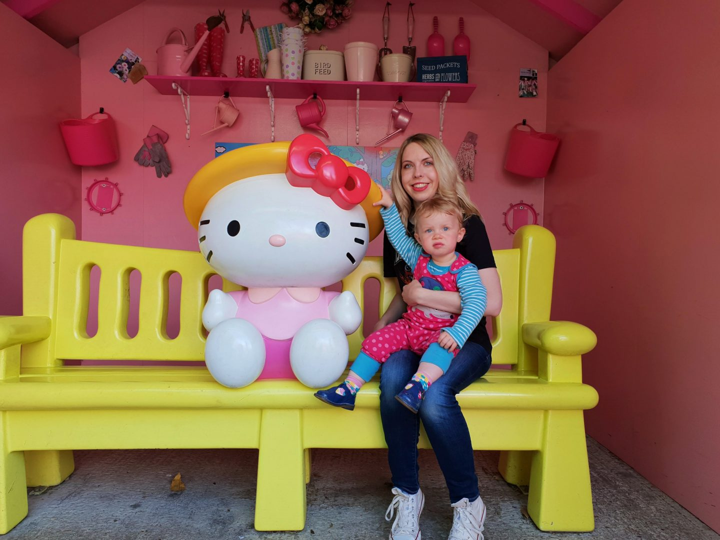 Hello Kitty bench at Drusillas Park