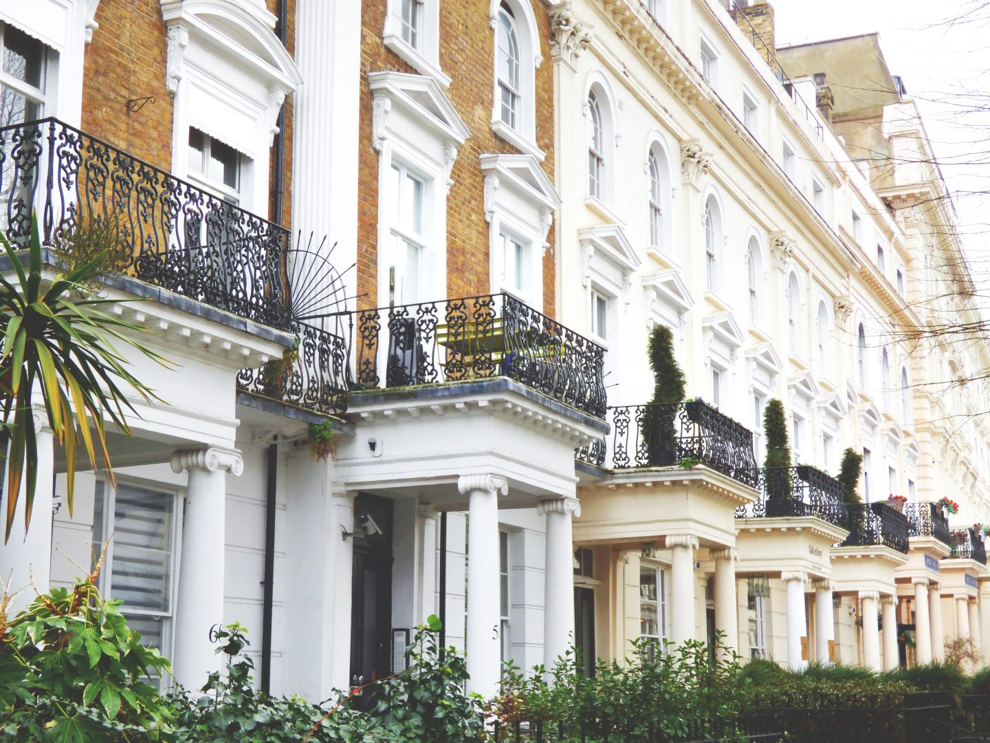 Invest in property - victorian buildings with balconies