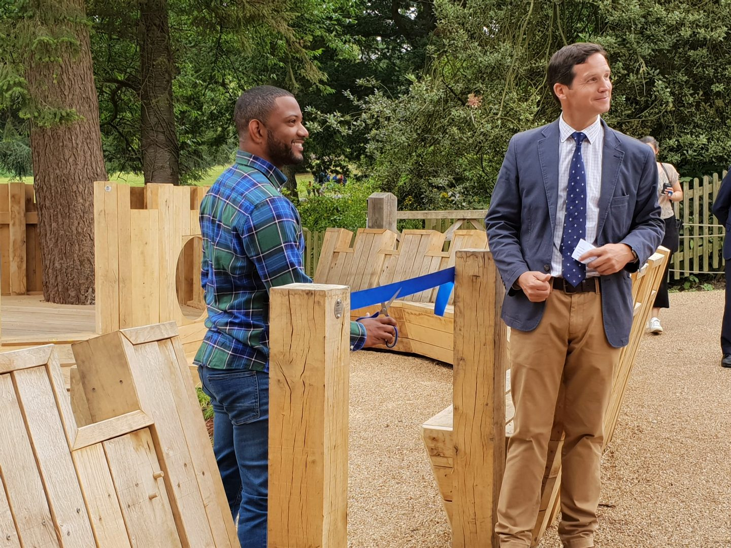 JB Gill opening new playground for under 7s at Hever Castle