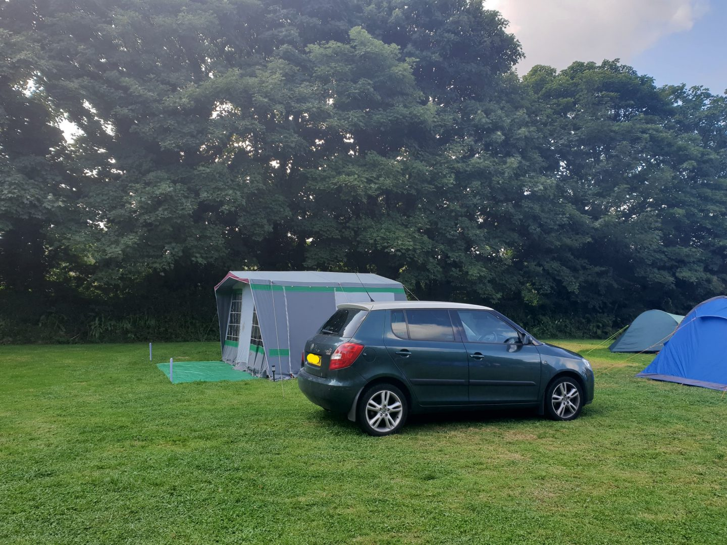 Camping with a Skoda Fabia