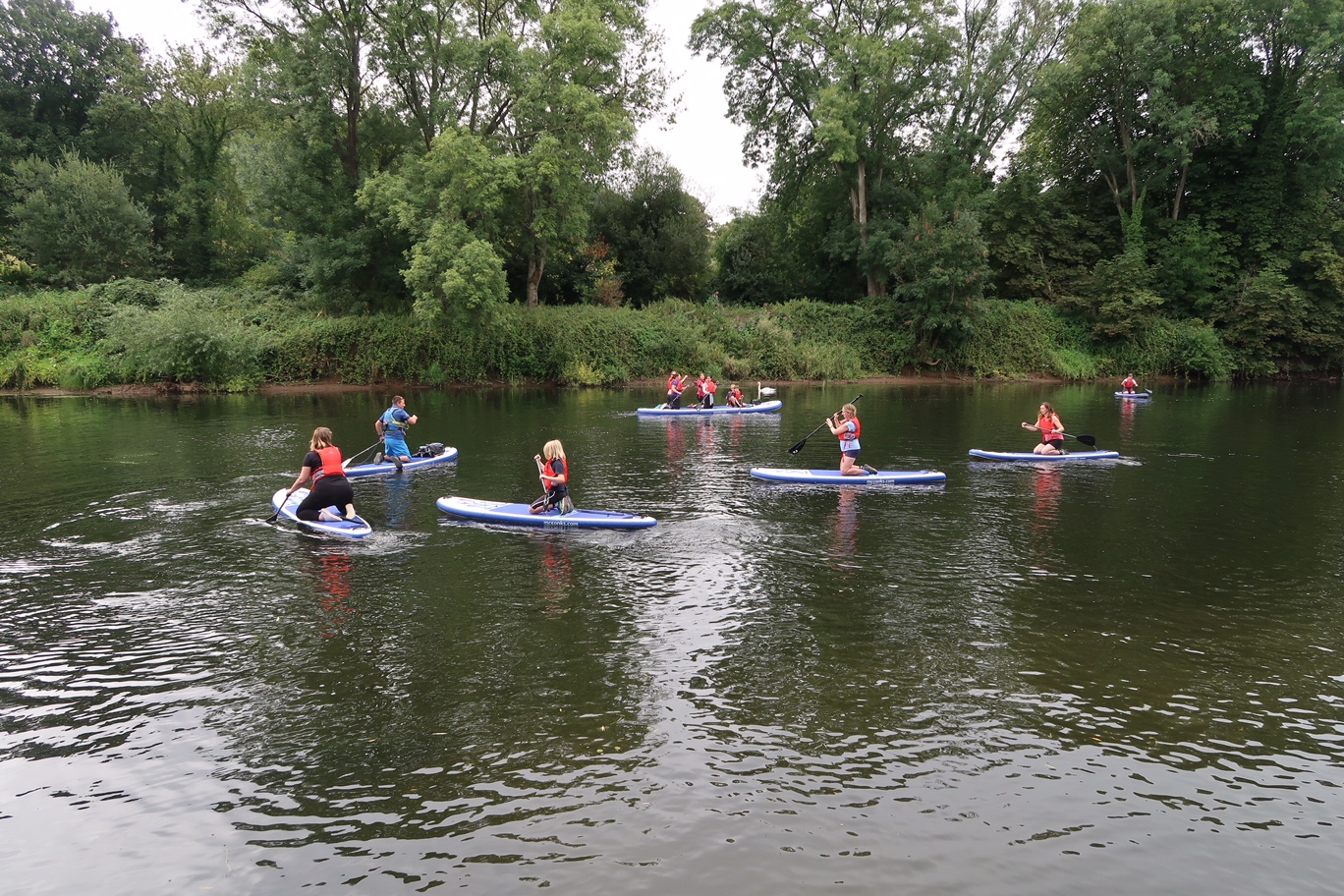 Paddle boarding on the River Wye in Monmouth