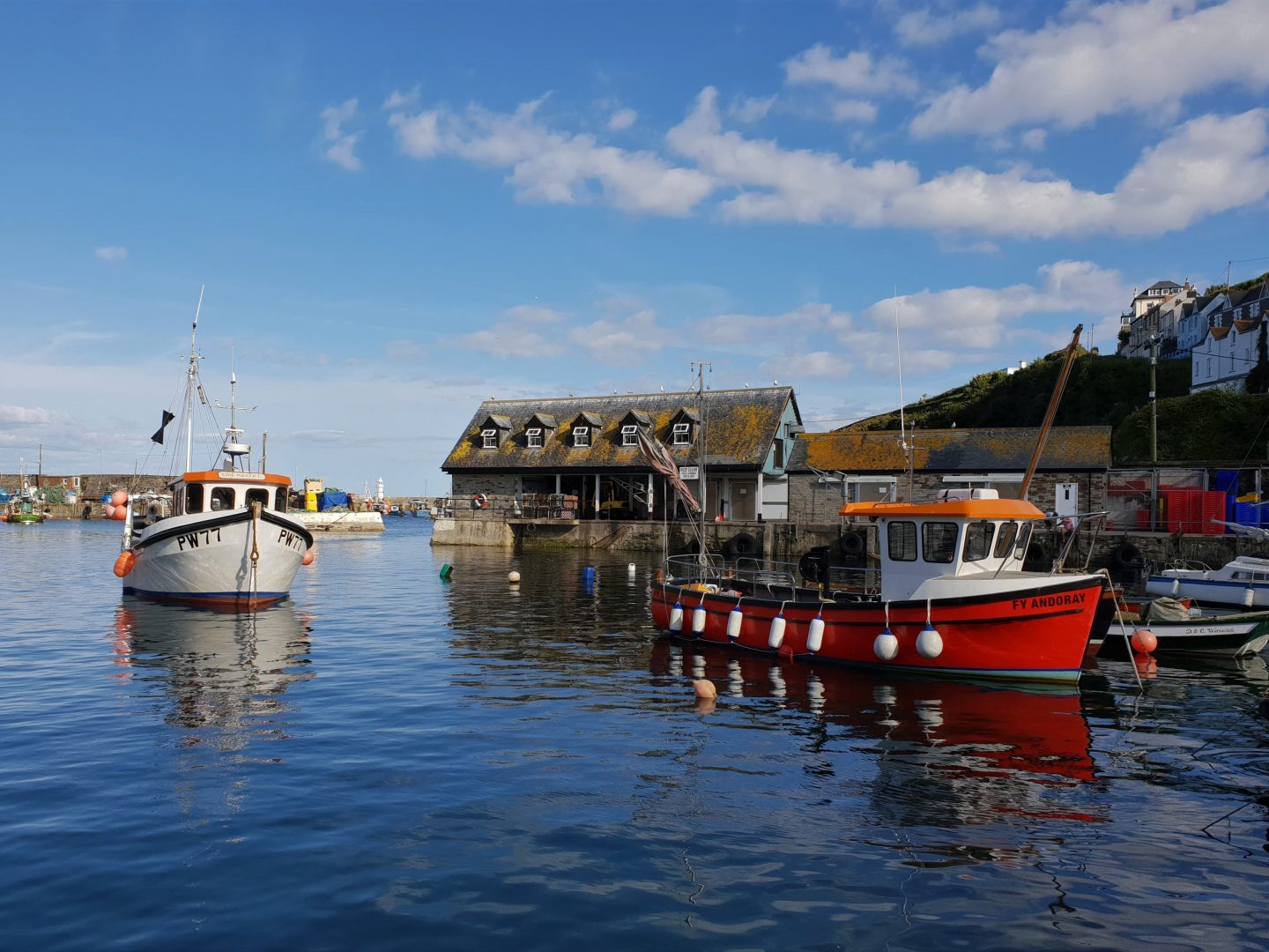Boats in Mevagissey, Cornwall
