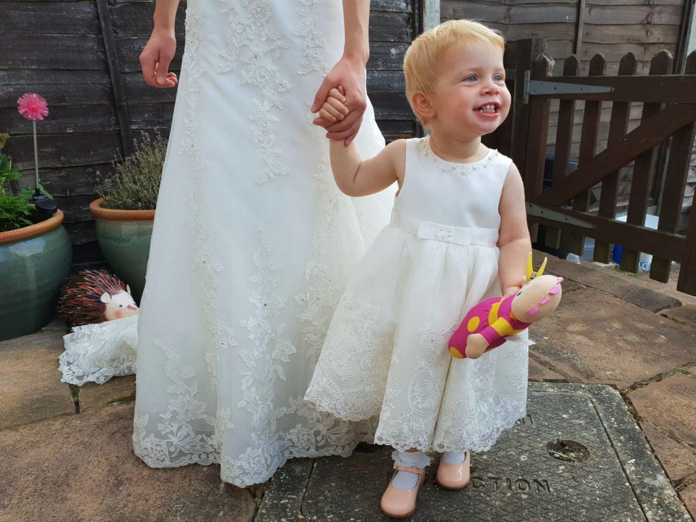 Skylar Rose ivory toddler girl wedding occasion dress