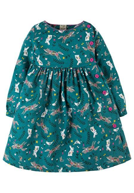 Frugi green button dress