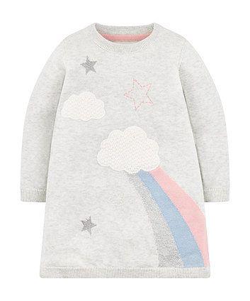 Grey cloud sweatshirt dress