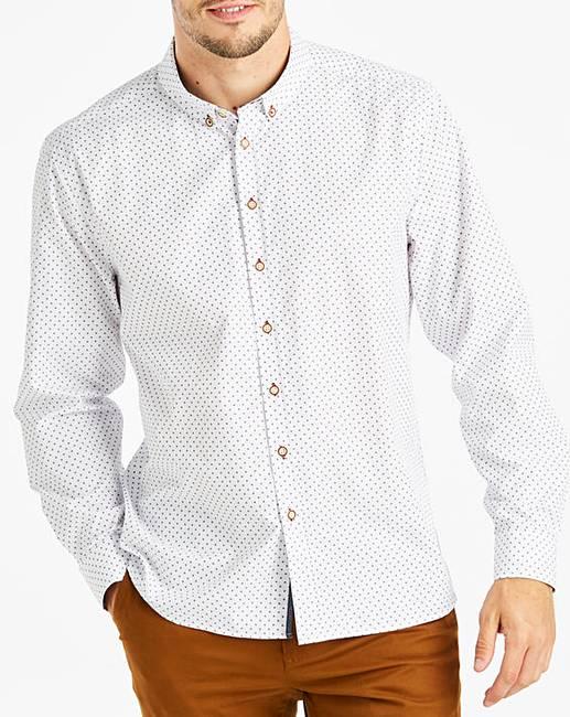 Jacamo printed white shirt