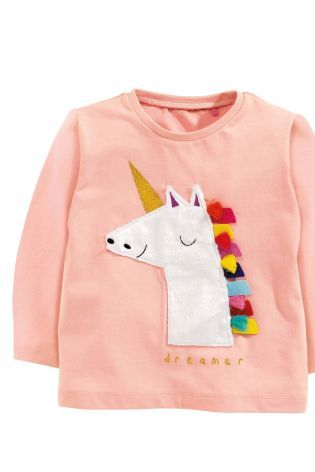 Next Pink Unicorn Sweatshirt