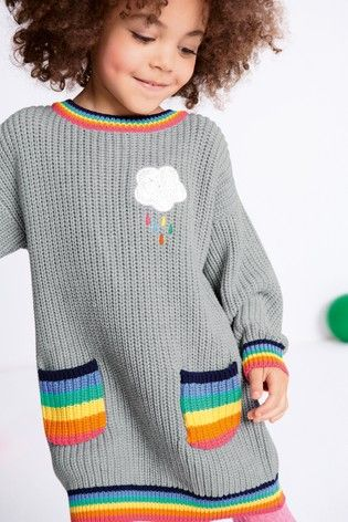 Next-Rainbow-Cloud-Knit-Dress