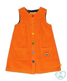 Little Bird orange corduroy dress