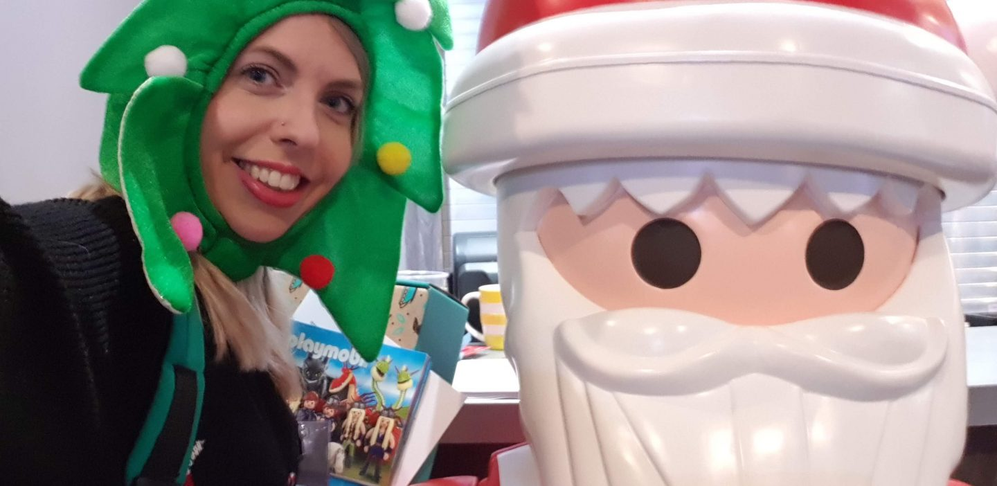 Christmas tree hat and Playmobil Santa at BlogOn Toys