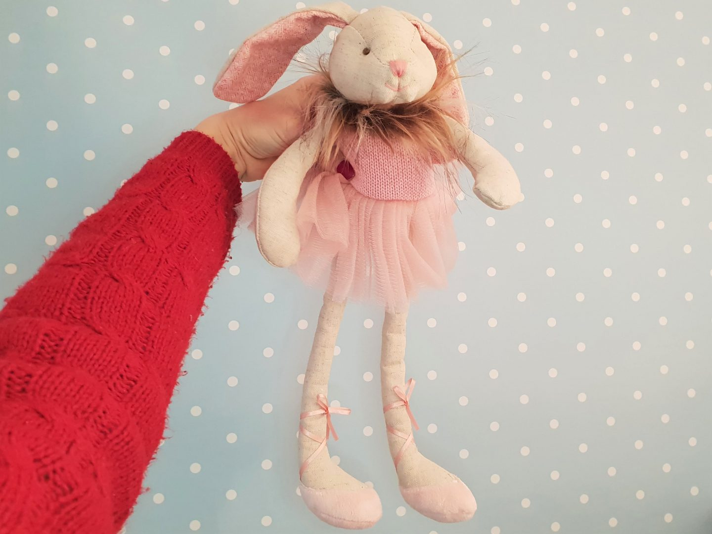 Wilberry Dancer pink bunny soft toy