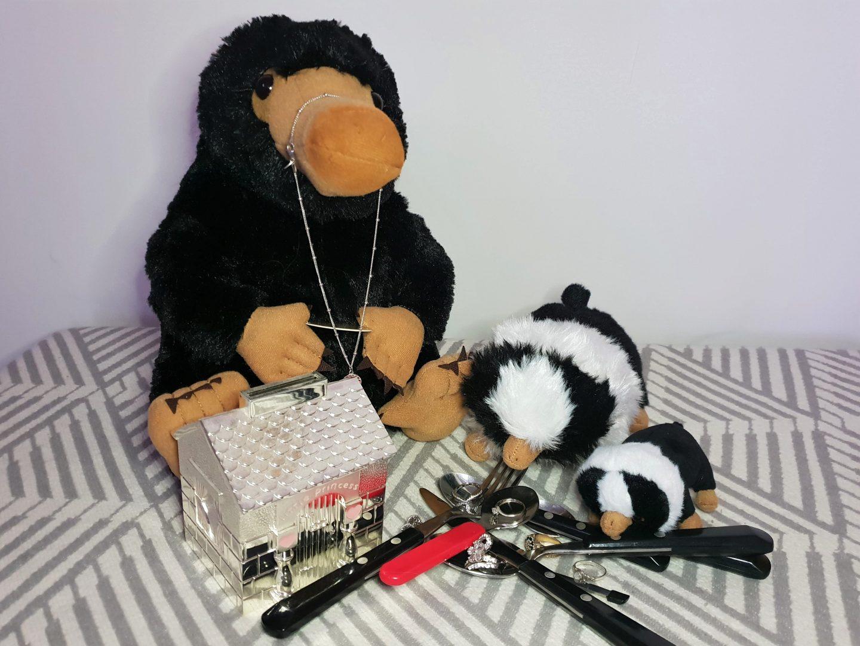 Niffler and niffler babies plush toys