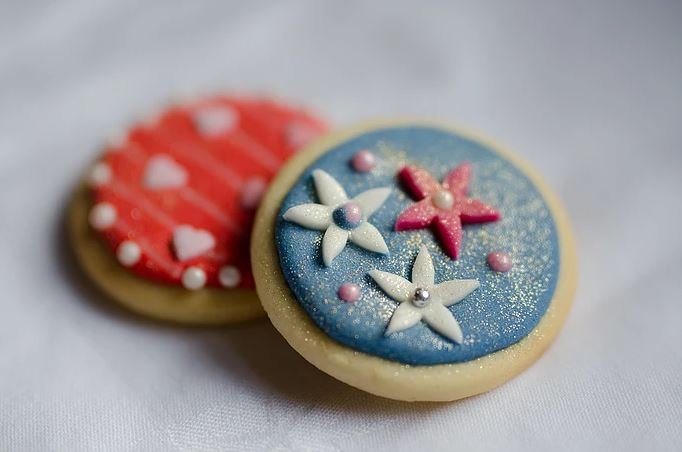 Artisan glittery biscuits Maidstone Kent