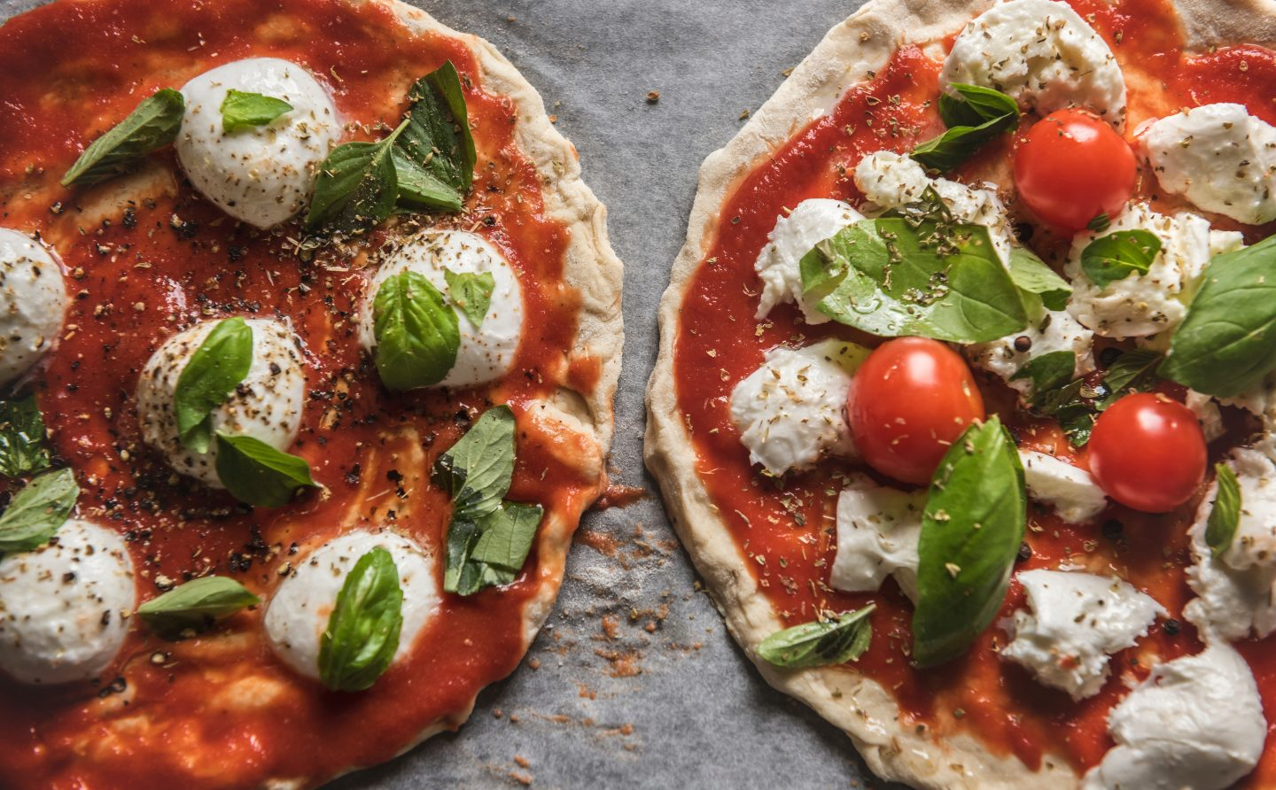 Pitta bread pizzas