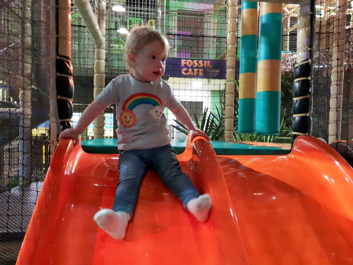 Slide toddler soft play at Dinotropolis, Bluewater