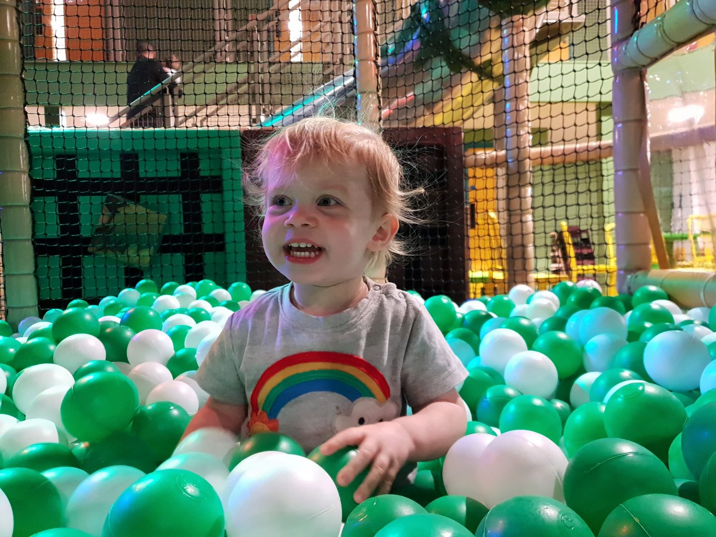 Ball pool soft play at Dinotropolis, Bluewater