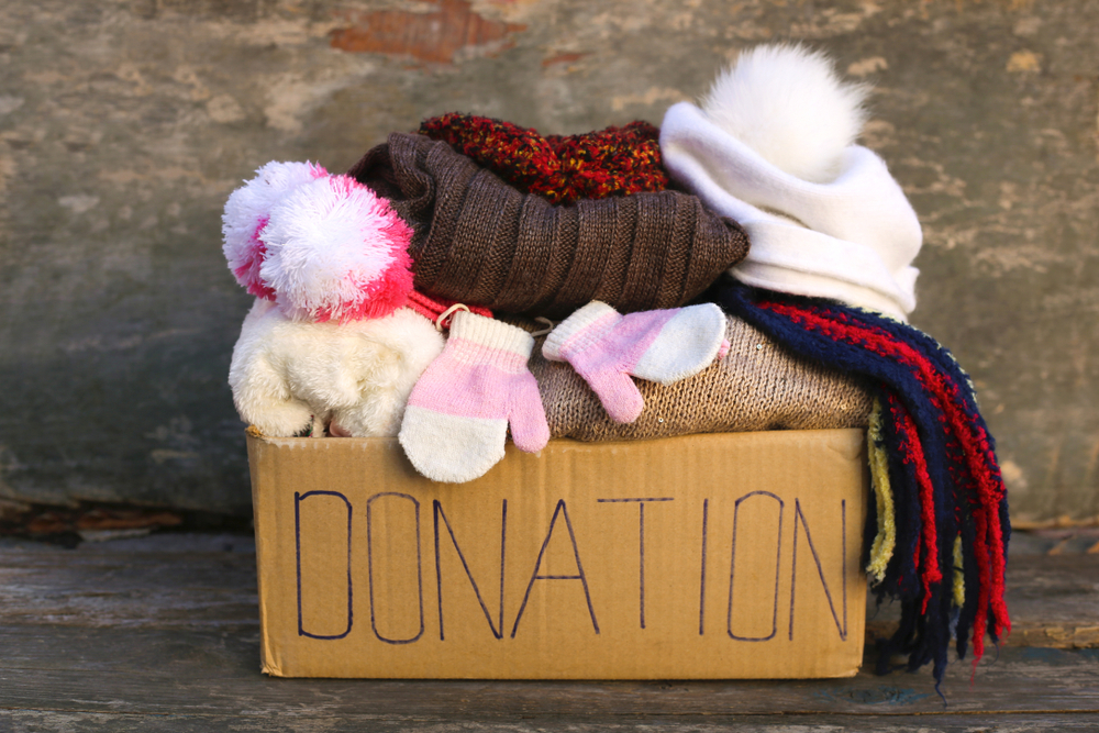 Donation box hats scarves