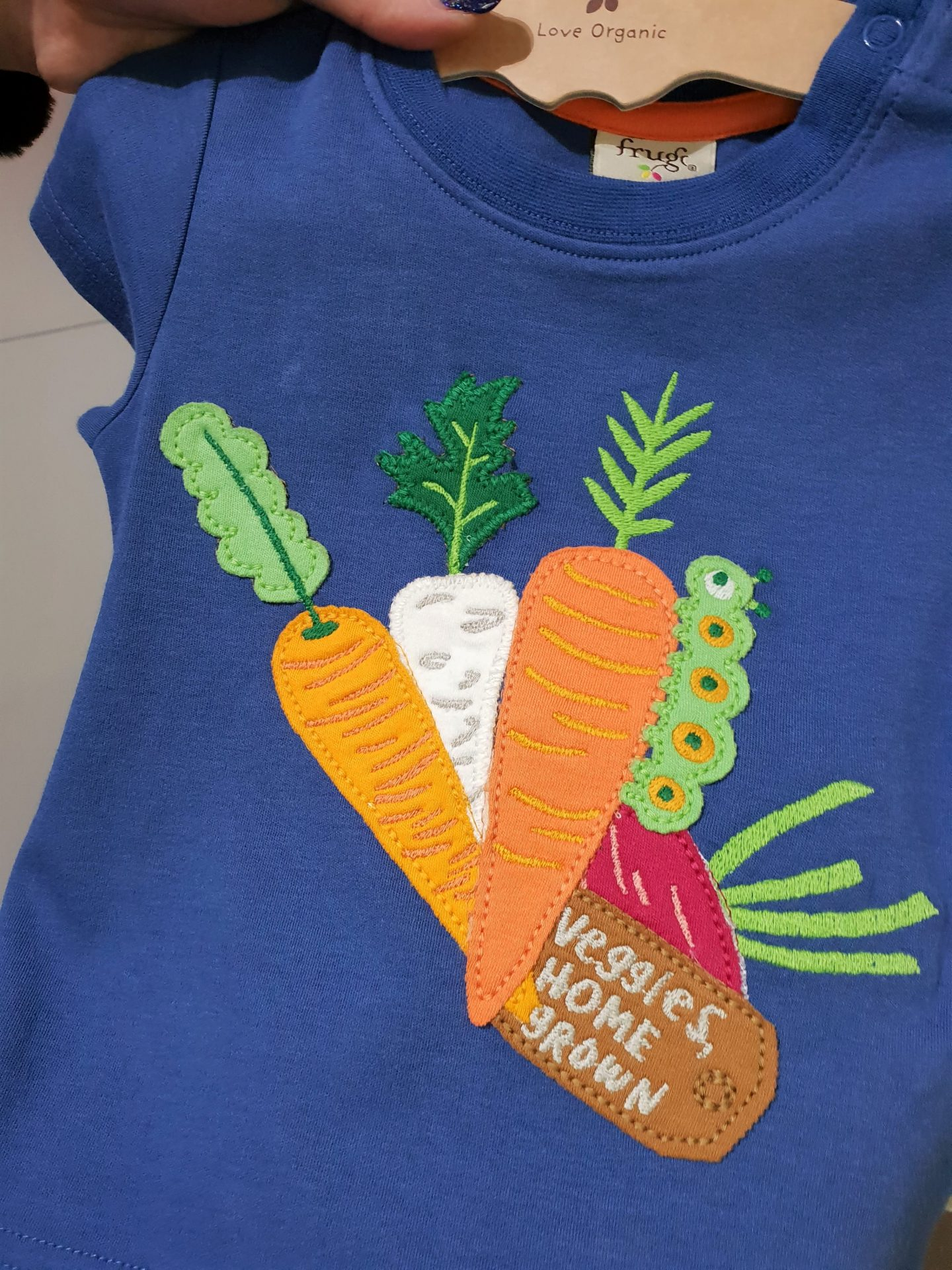 Frugi SS19 Summer of Scillyness vegetable t-shirt