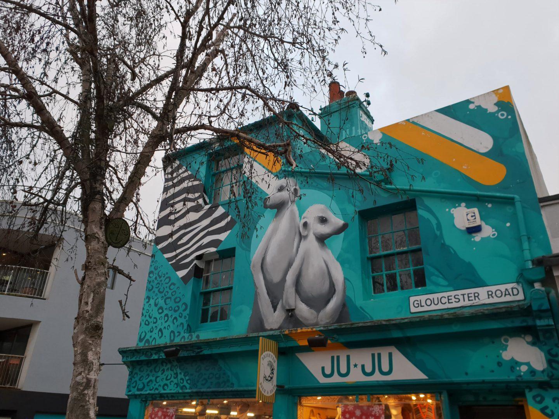 Meerkat street art Brighton