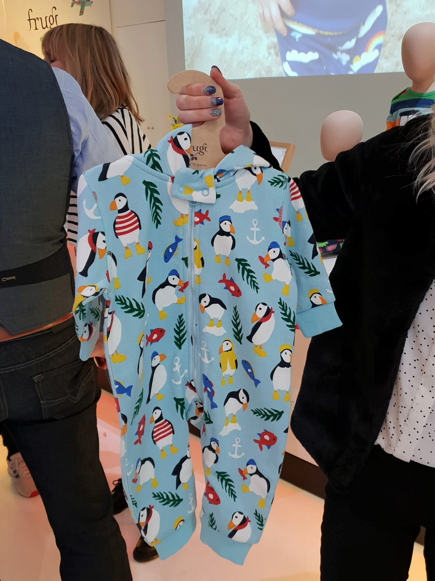 Frugi SS19 Summer of Scillyness puffin snugglesuit