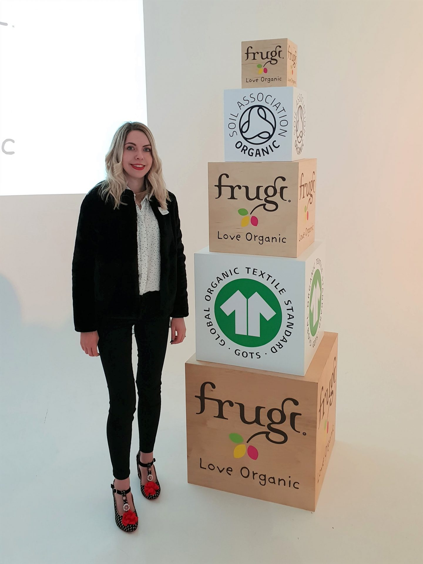 Laura from Autumn's Mummy blog at Frugi SS19 Summer of Scillyness press launch in London