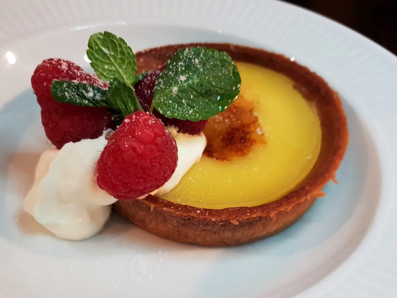 Tarte au Citron lemon tart at Côte Brasserie, Maidstone