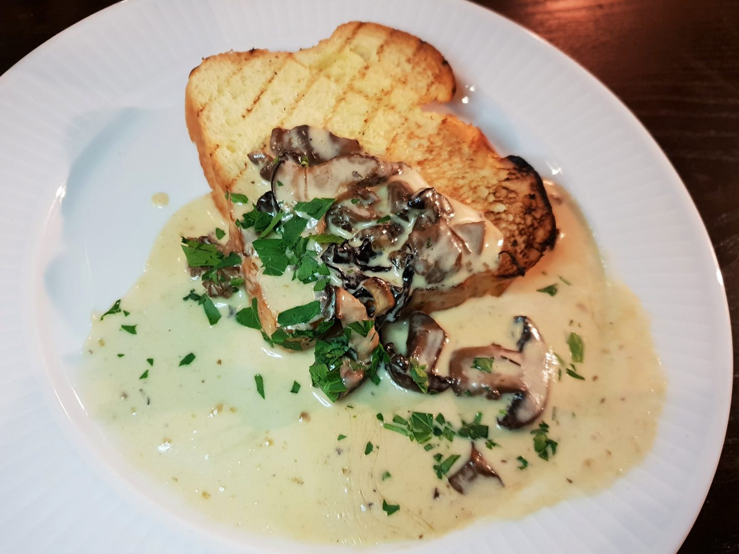 Mushroom Brioche from the vegetarian menu at French Onion Soup at Côte Brasserie, Maidstone