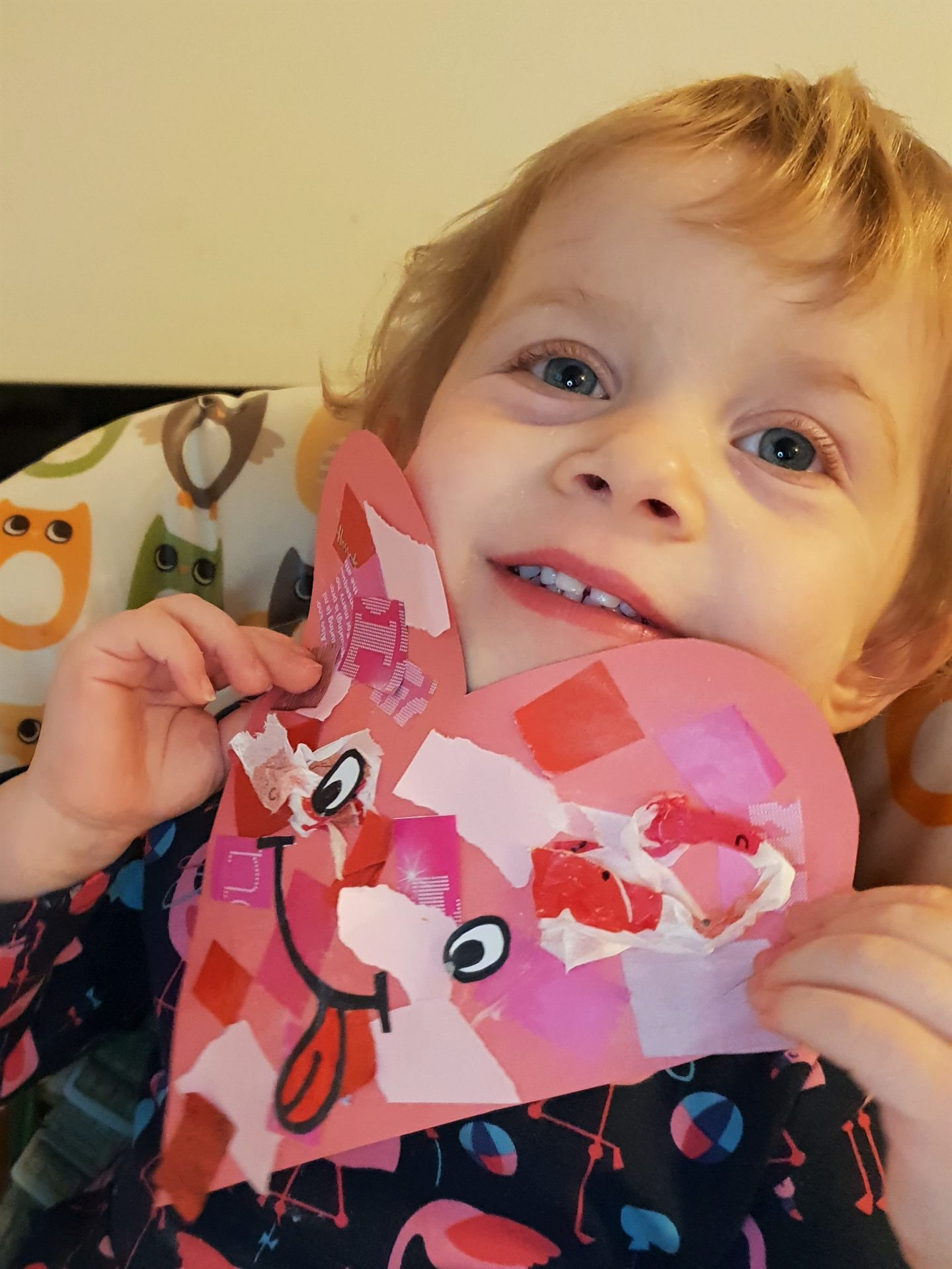 Toddler Valentine's Day versatile heart face craft