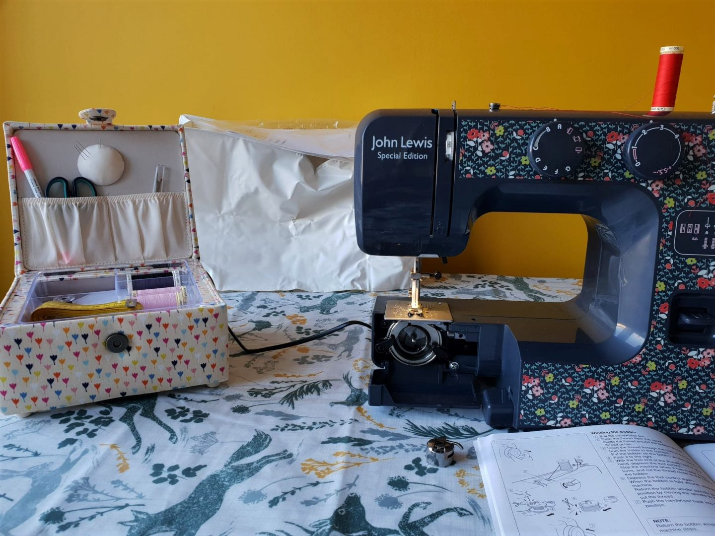 John Lewis Sewing machine and sewing box