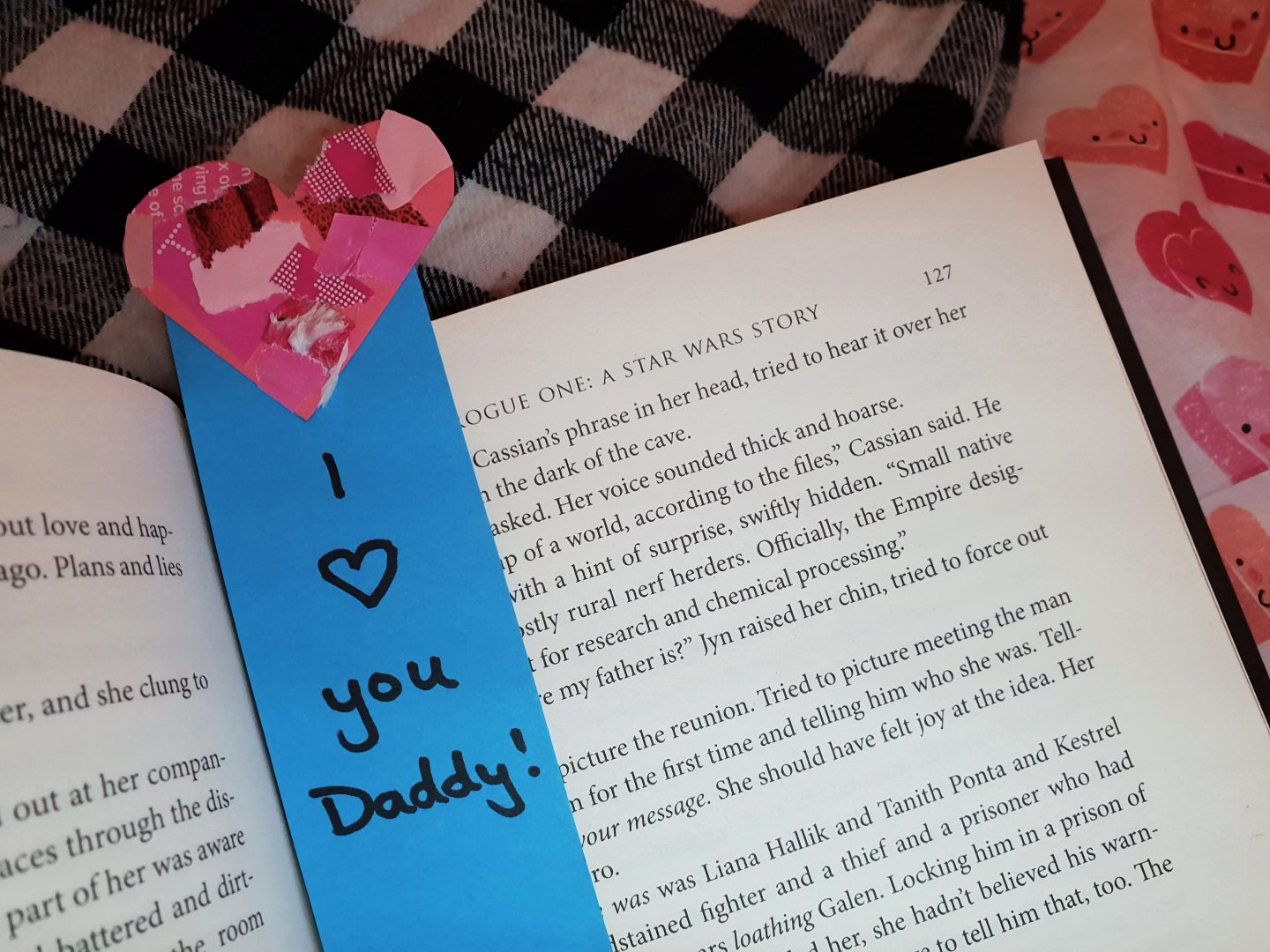 Toddler bookmark Valentine's Day craft