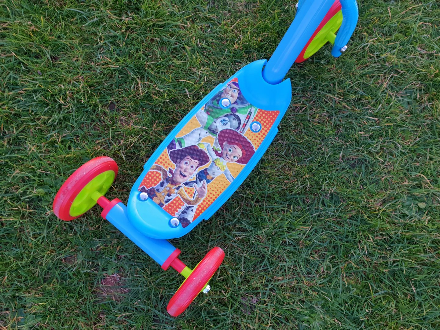 Picture on Toy Story scooter from Smyths Toys