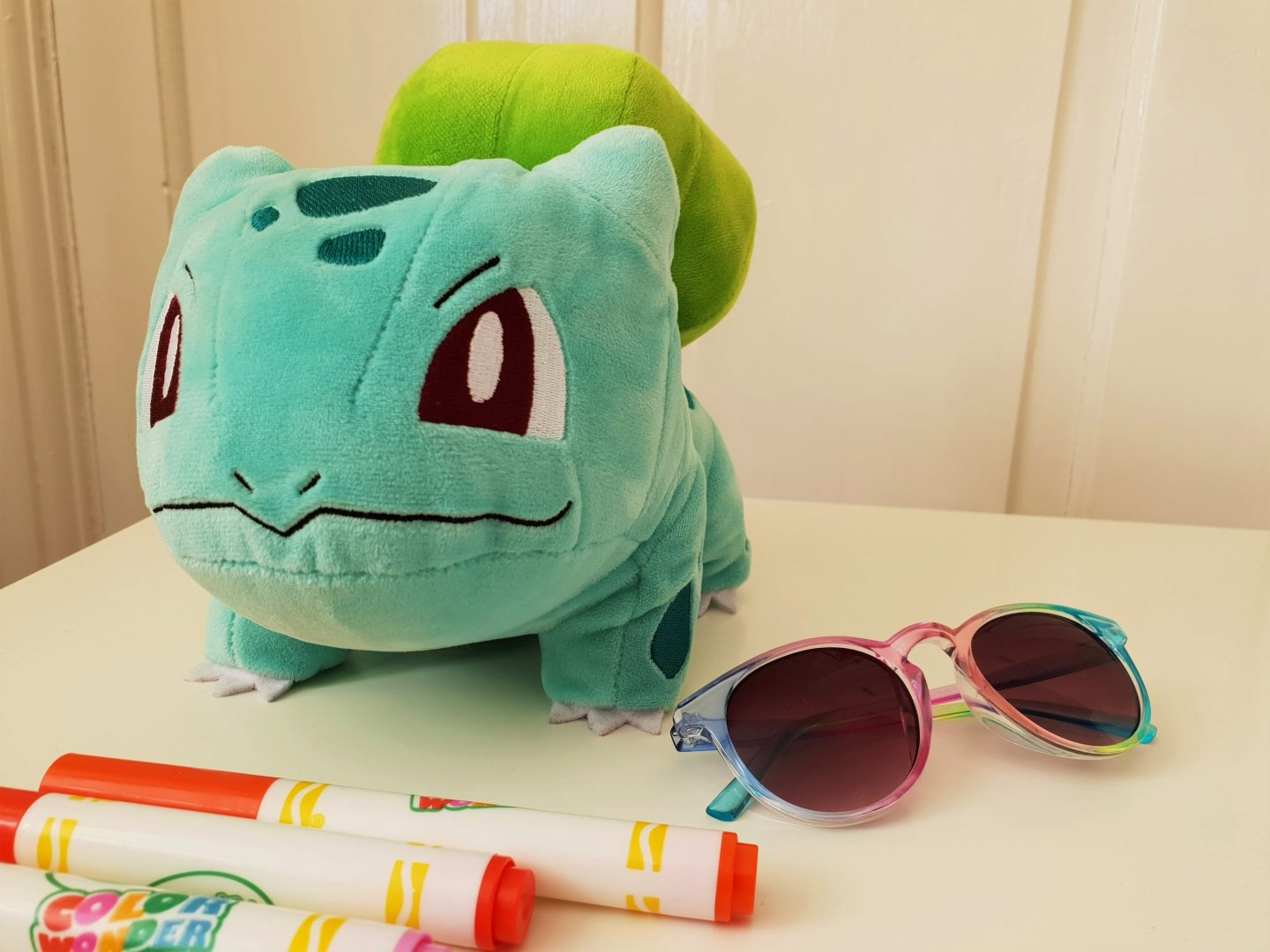 Bulbasaur cuddly toy from Smyths Toy at South Aylesford Retail Park