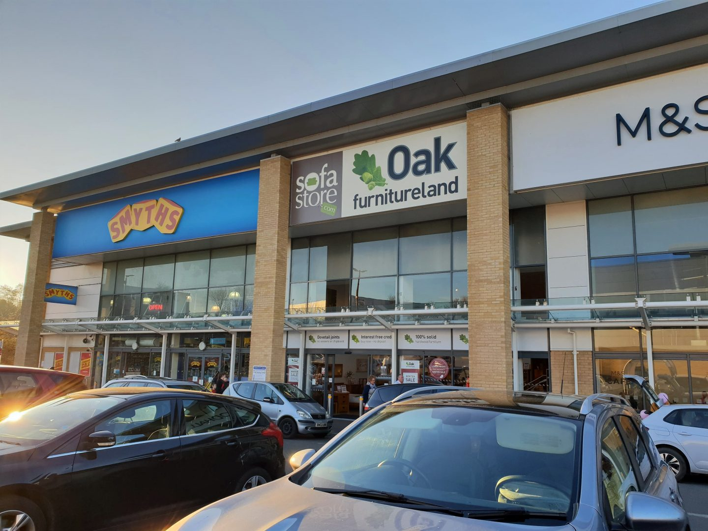 Smyth's Toys, Oak Furniture Land, M&S Food at South Aylesford Retail Park, February 2019
