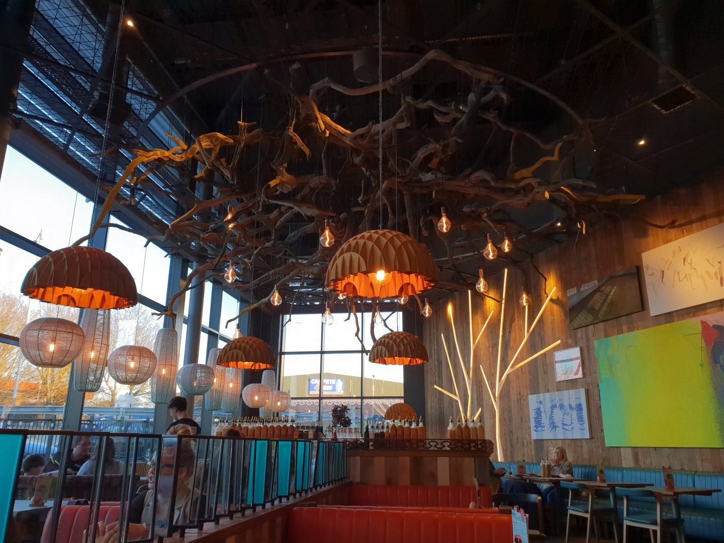 Nando's beautiful decor at South Aylesford Retail Park in Kent
