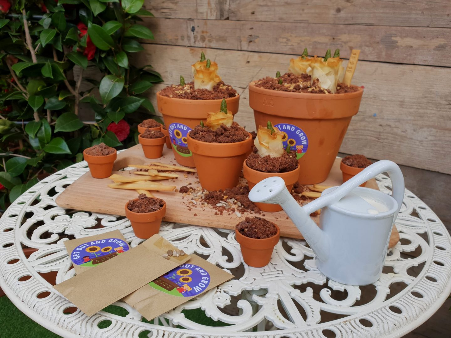 Get Out and Grow plant bulb cakes made by Great British Bake Off winner, Frances Quinn