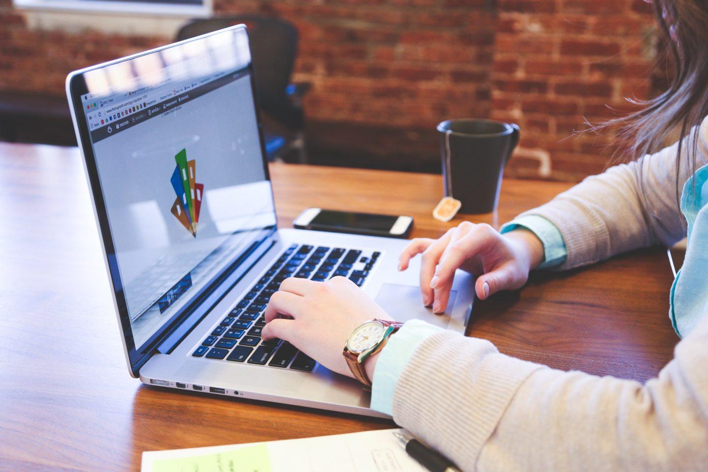 Graphic design on laptop