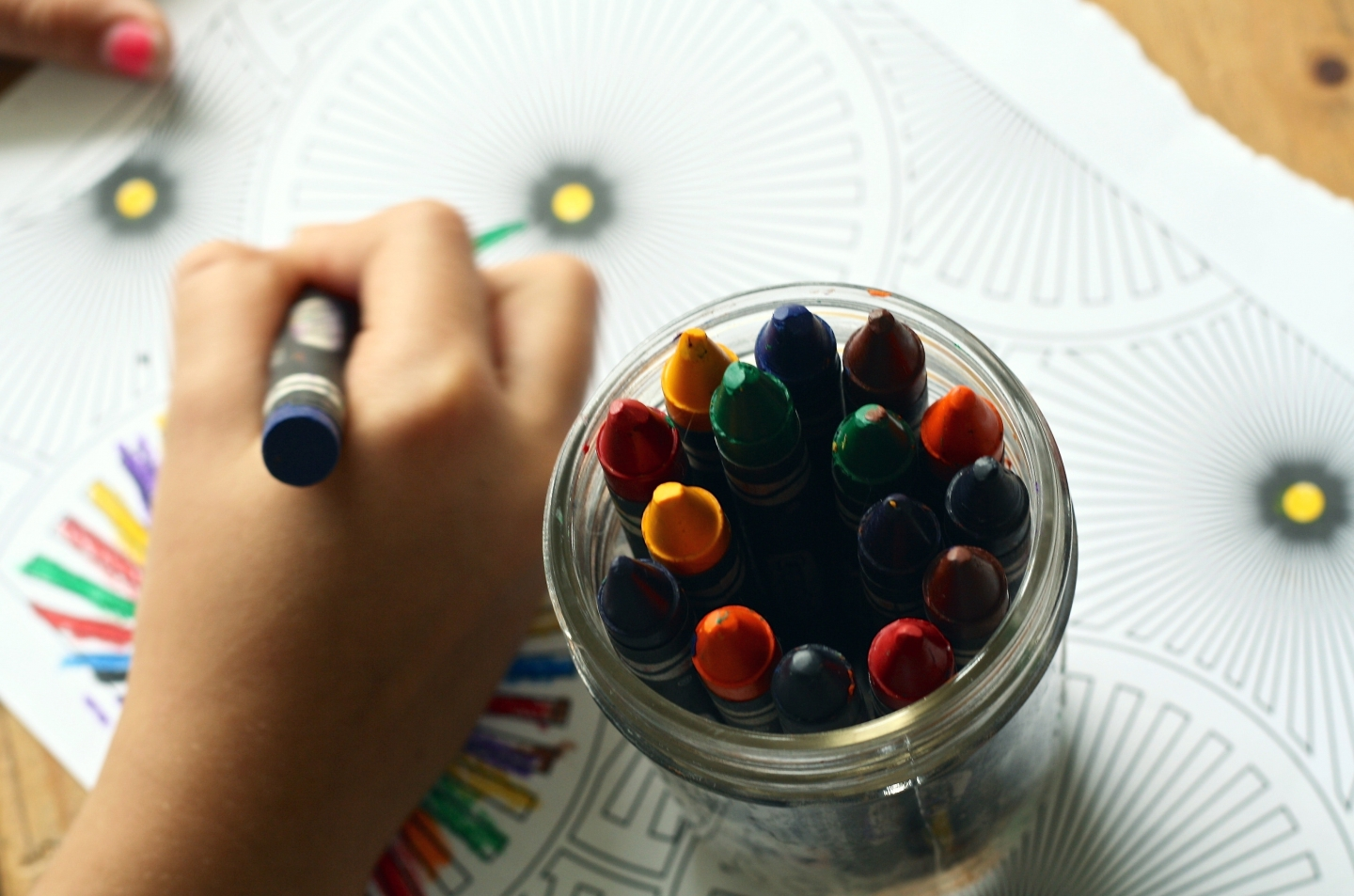 Colouring in art and craft activity