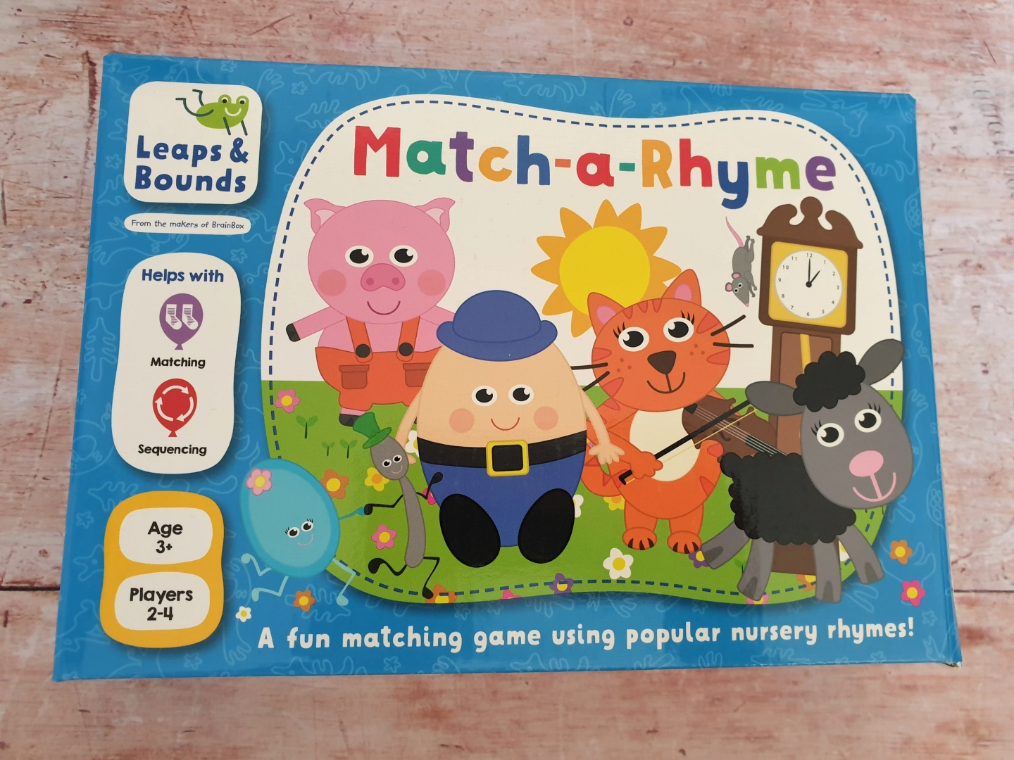 Match-a-Rhyme game for toddlers and preschoolers