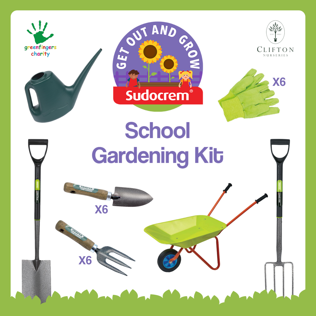 Win a Sudocrem Get Out and Grow gardening kit for your school