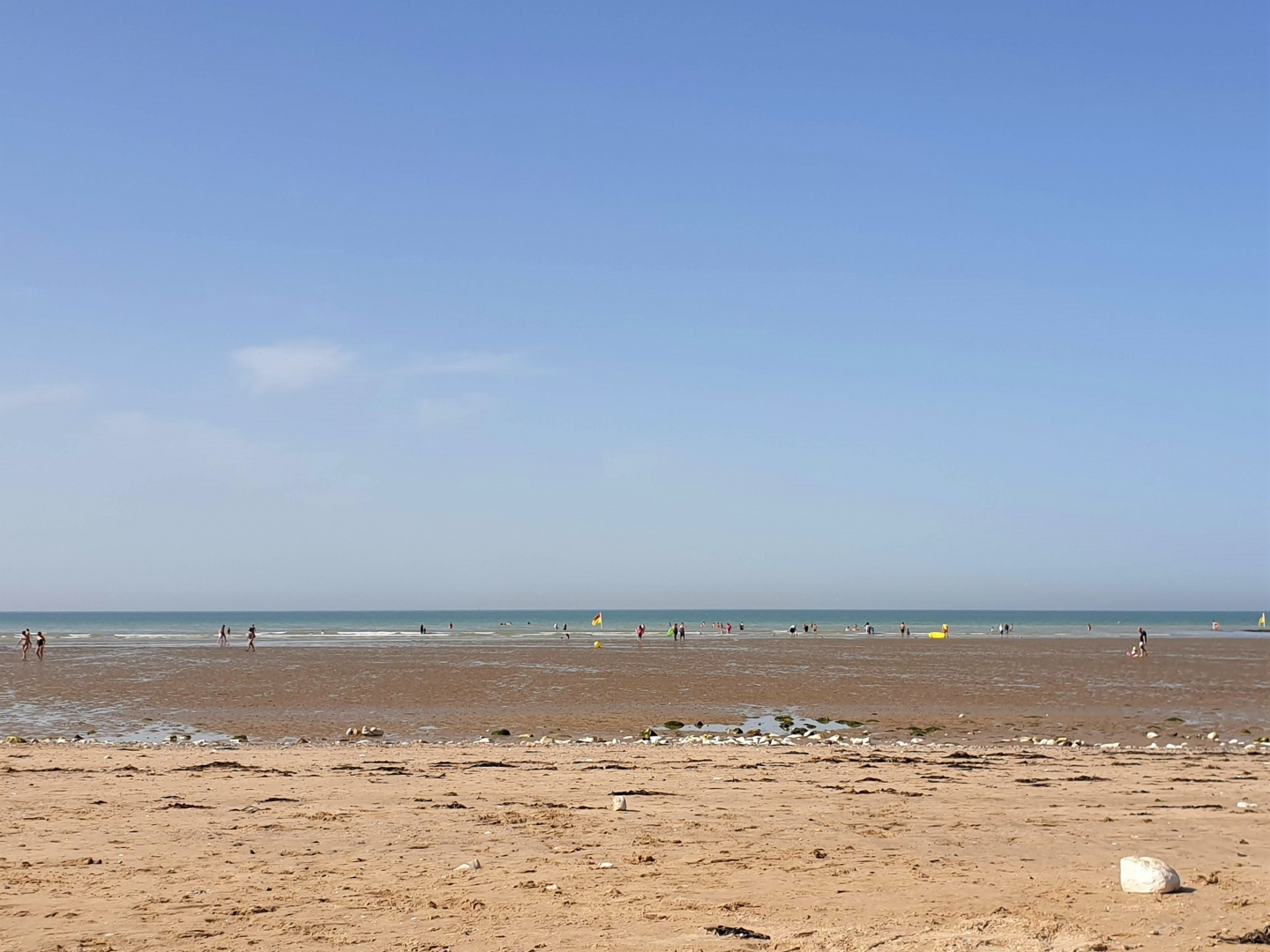 Westgate-on-sea beach near Margate in Kent - great for young children