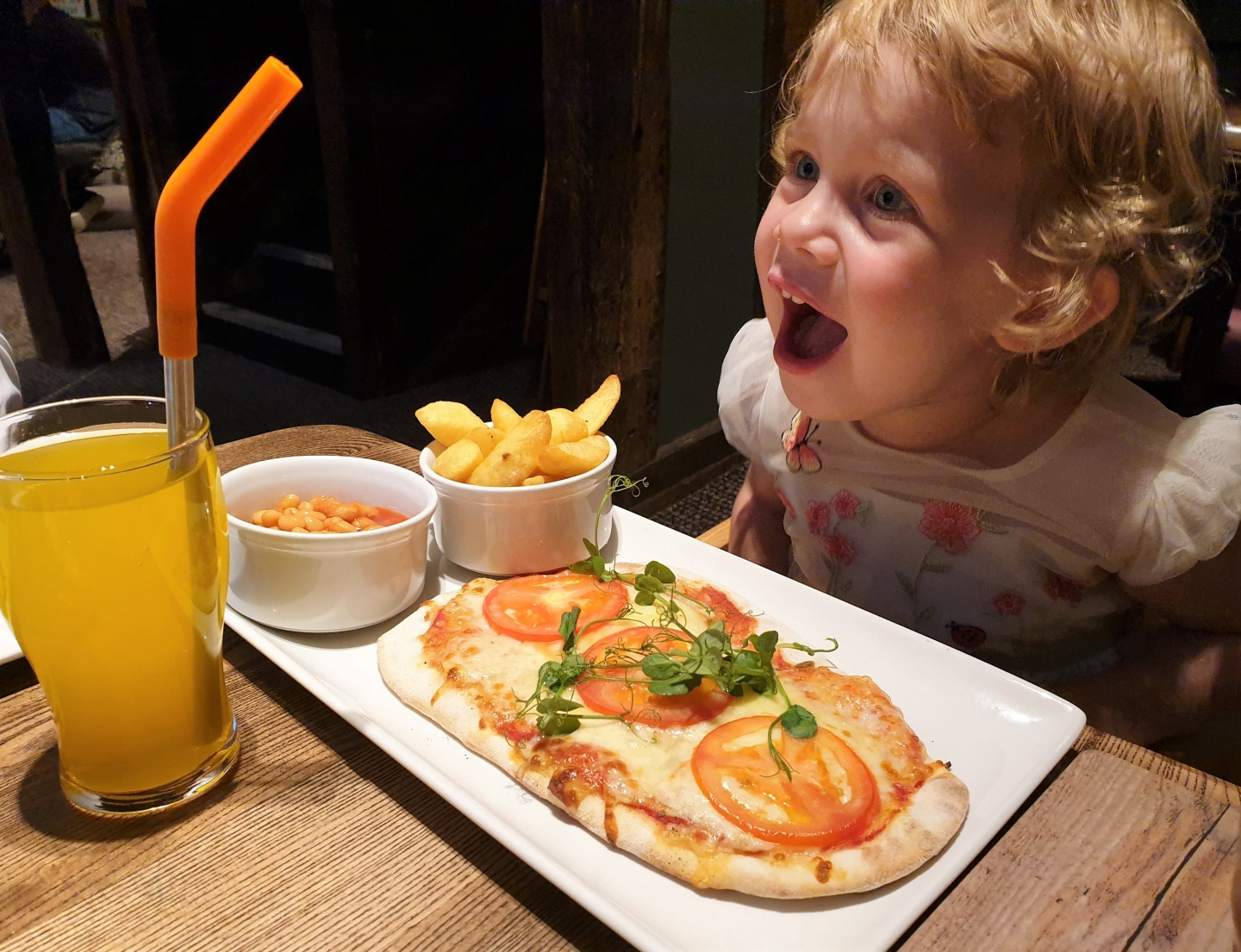 Pizza children's menu at The Lion Hotel Farningham